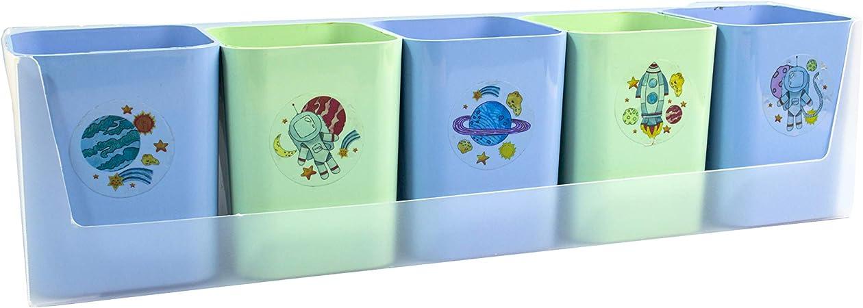 5 Porta Objetos + Cartela de adesivos