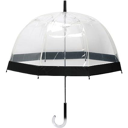 Paraguas campana transparente ribete negro mango ergonómico la chaise longue 26 – 2381 N