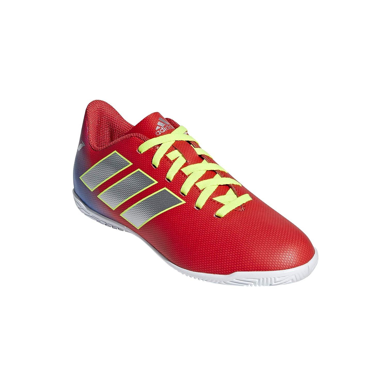Adidas Jungen Nemeziz Messi 18.4 IN Fußballschuhe, Rot Active ROT Silber Foil Football Blau, 35 EU