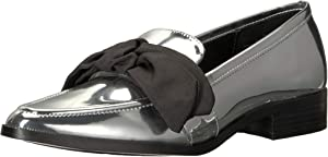 Nine West Womens Weeping Synthetic Loafer Flat