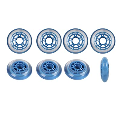 Player's Choice Roller Hockey Wheels Hilo Set 72mm / 80mm 78a Soft Blue Indoor Inline Skate : Inline Skate Replacement Wheels : Sports & Outdoors