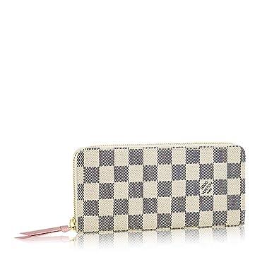eea44a585b03 Amazon.com  Louis Vuitton Damier Azur Canvas Rose Ballerine Clemence Wallet  N61264  Shoes