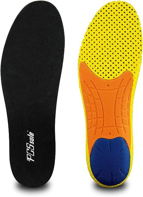 PCSsole Solette per Scarpe da Corsa, Solette Sportive in Memory Foam Soletta che Forniscono un Eccellente Assorbimento Degli urti e Ammortizzazione