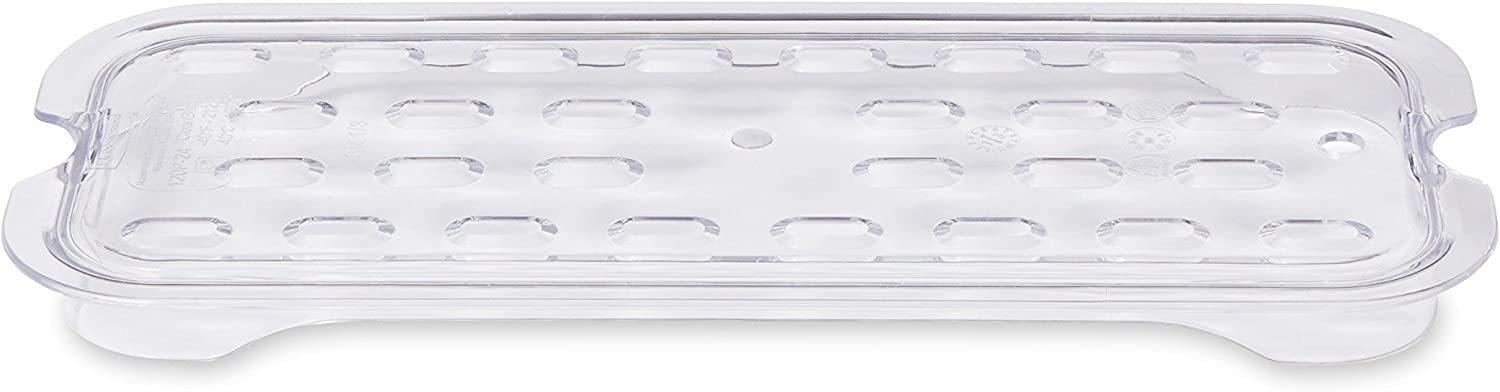 Rubbermaid FG120P24CLR Cold Food Pan Drain Tray Third-Size Cold Food Pans