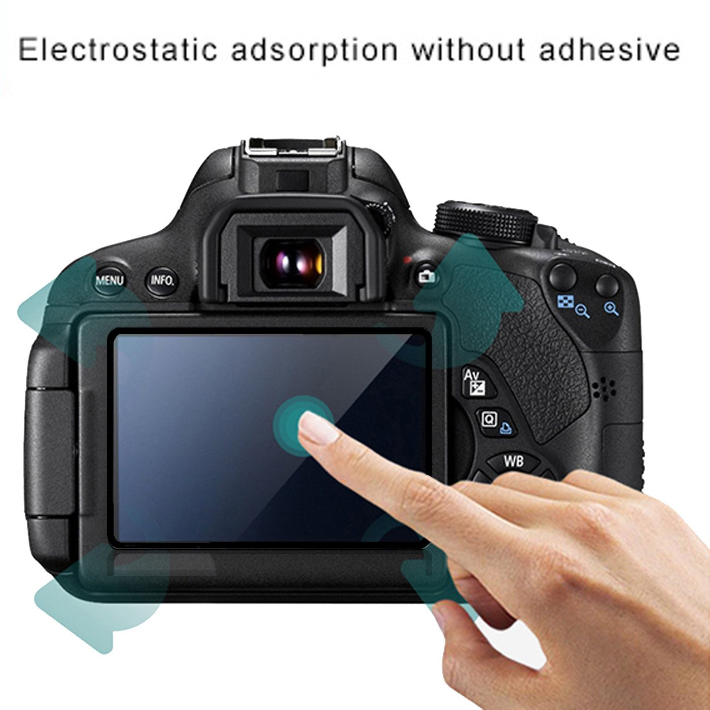 2pcs Frame Desgin Screen Protector Compatible Sony A6400 A6500 A5100 Mirrorless Digital Camera,debous Anti-scratch Tempered Glass crystal-clear Hard Protective Film Shield Cover Guard Lcd protection