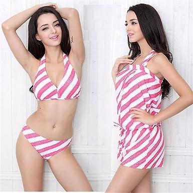 5ea5443288 Amazon.com  Fanceey Sexy Bikinis Women Swimsuit High Waisted Bathing Suits  Swim Halter Push Up Bikini Set Plus Size Swimwear  Clothing