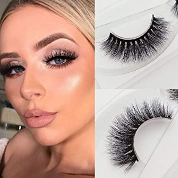 0f9eda93020 Amazon.com : Veleasha Lashes Top Quality 3D Mink Eyelashes 100% Hand-made  Natural Long Cross Fake Lashes for Makeup 1 Pair Pack (H-3) : Beauty