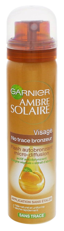Garnier Ambre solaire - Autobronzant micro-diffusion pour le visage, extrait naturel d'abricot. - Le spray de 75ml