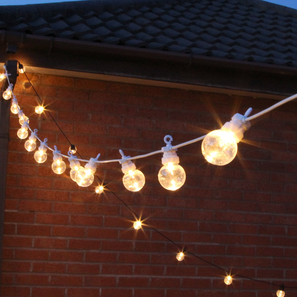 8 m lange Girlande Party Lichterkette, 20 LEDs, warmweiß ...
