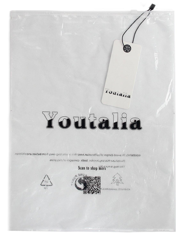 Youtalia Casual Women Blouses Tops, Plus Size Business V Neck Long Sleeve Chiffon Tshirt Multicolor Blue Medium by Youtalia (Image #8)