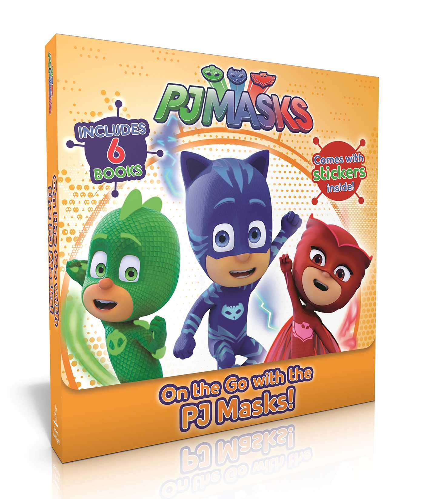 On the Go with the Pj Masks!: Into the Night to Save the Day!; Owlette Gets a Pet; Pj Masks Make Friends!; Super Team; Pj Masks and the Dinosaur!;