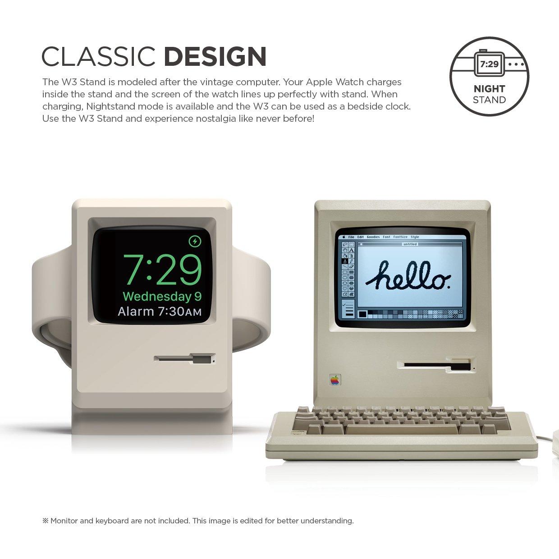elago W3 STAND Apple Watch 専用 シリコン製 スタンド 充電スタンド付 for Apple Watch Series 2 / 1 各サイズ対応 ホワイト【国内正規品】