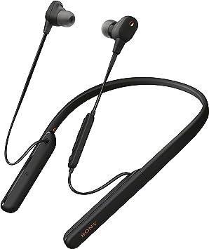 Sony WI1000XM2 - Auriculares Inalámbricos Noise Cancelling (Bluetooth, Sonido Adaptativo, Compatible con Alexa, Soporte Cuello de Silicona, 10h Batería, Llamadas Manos Libres), Negro: Amazon.es: Electrónica