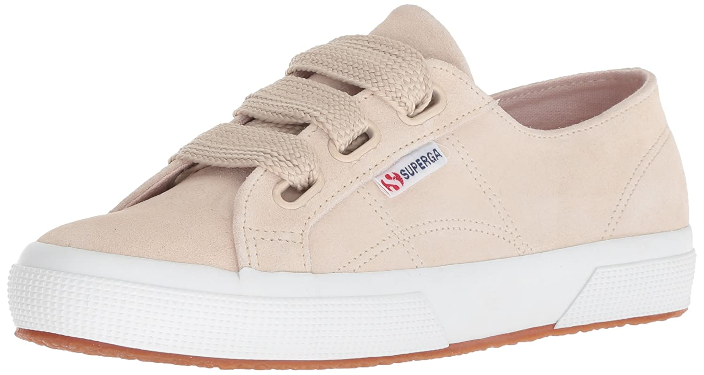 Superga Women's 2750 Suew Biglace Sneaker B077XK445T 37.5 M EU (7 US)|Taupe Suede