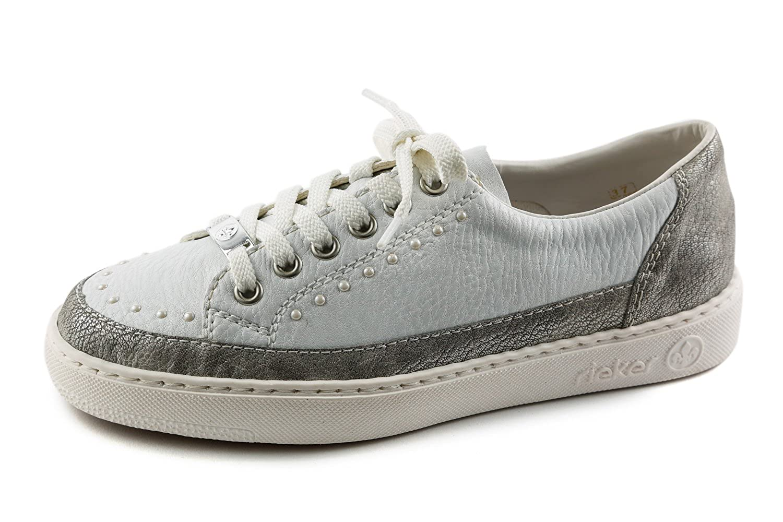 Rieker Samples RK1-118 - Zapatillas de Sintético para Mujer Blanco Weiß 37 EU