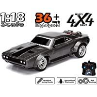 Non Toxic™ Remote Control Radio Controlled Fast and Furious RC Dom's Dodge Charger Car Black Age 6+