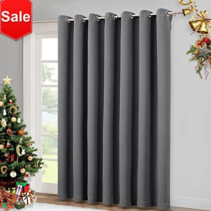 Amazon nicetown patio sliding door curtain wide blackout nicetown patio sliding door curtain wide blackout curtains keep warm draperies grey sliding planetlyrics Choice Image