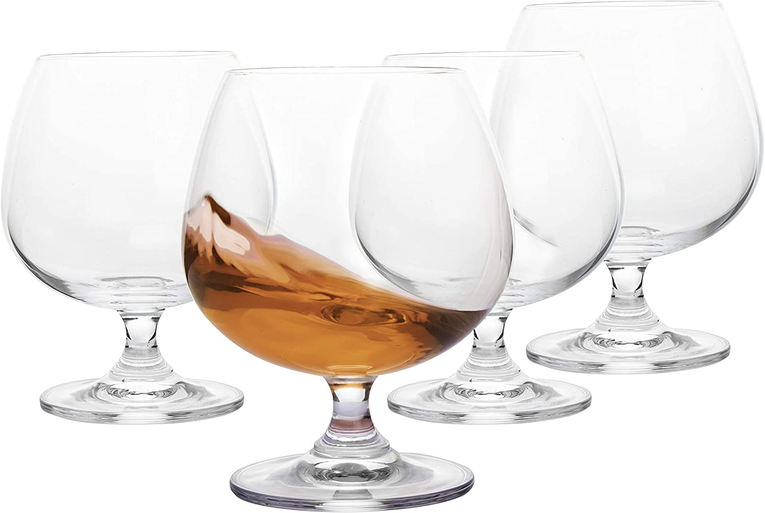 JEKOSEN Brandy /& Cognac whiskey Crystal Glasses Snifter Set of 4 Lead-free Clear Large Size 22oz