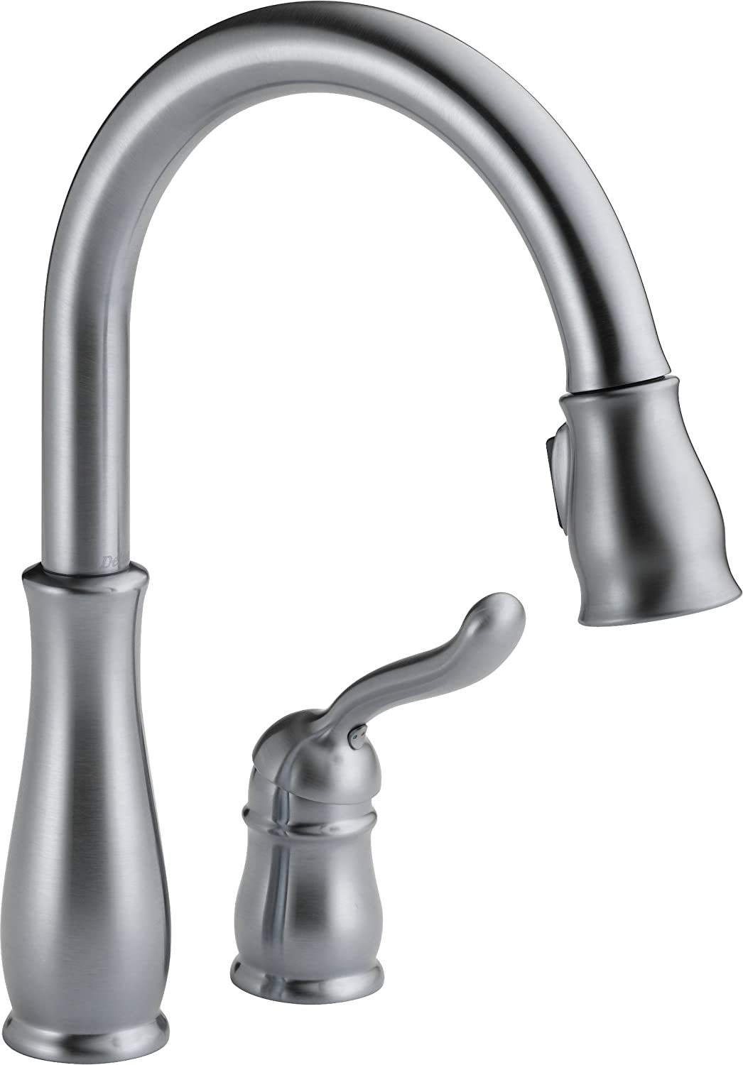 Delta 978-ARWE-DST Leland Single Handle Pull-Down Kitchen Faucet, Arctic Stainless