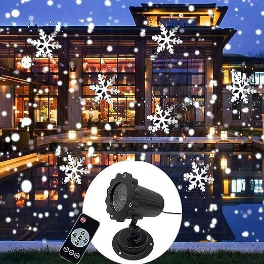 Luces de proyector de Navidad de copo de nieve, luces de ...