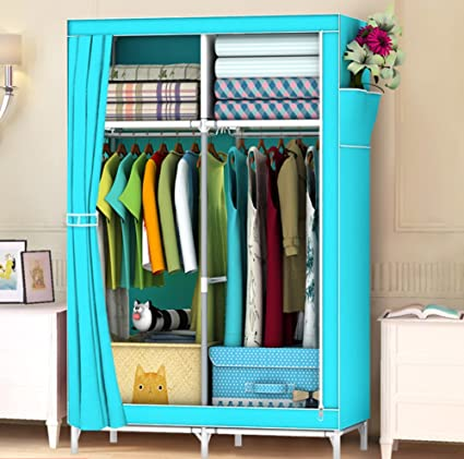 Nu0026B Portable Closet Wardrobe Fabric Organizer Wardrobe Diy Clothes Storage  Cabinet Portable Tool Organizer Bedroom Closet