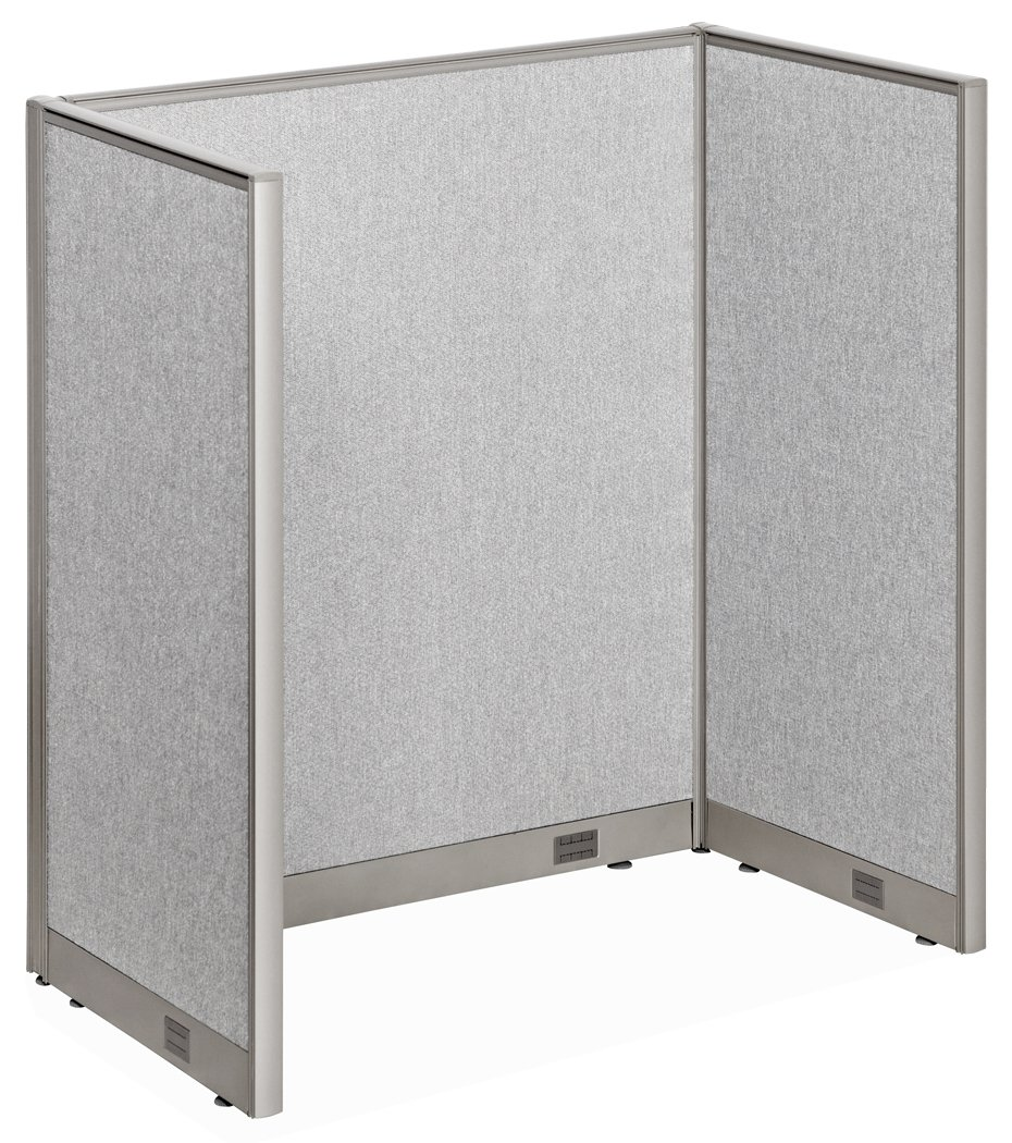 GOF Cubicle Single 1 Station Office Partition, Large Fabric Room Divider Panel Workstation, 30''D x 48''W x 60''H by GOF