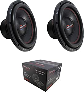 2 x 12 Subwoofer 1600W Single 4 Ohm Bass Pro Car Audio American Bass DX-12