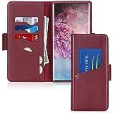 Toplive Galaxy Note 10+ Plus Case/Galaxy Note 10+ Plus 5G Case, Luxury Cowhide Genuine Leather Samsung Galaxy Note 10+ Plus W