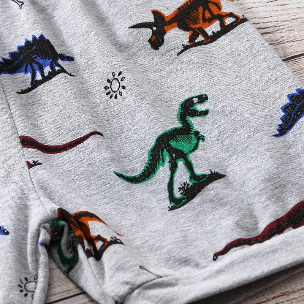 Pantaloncini Pigiama Set Estate Topgrowth Pigiama Bambino Dinosauro Maglietta A Maniche Corte Neonato Unisex Camicia Stampa Cime T Shirt