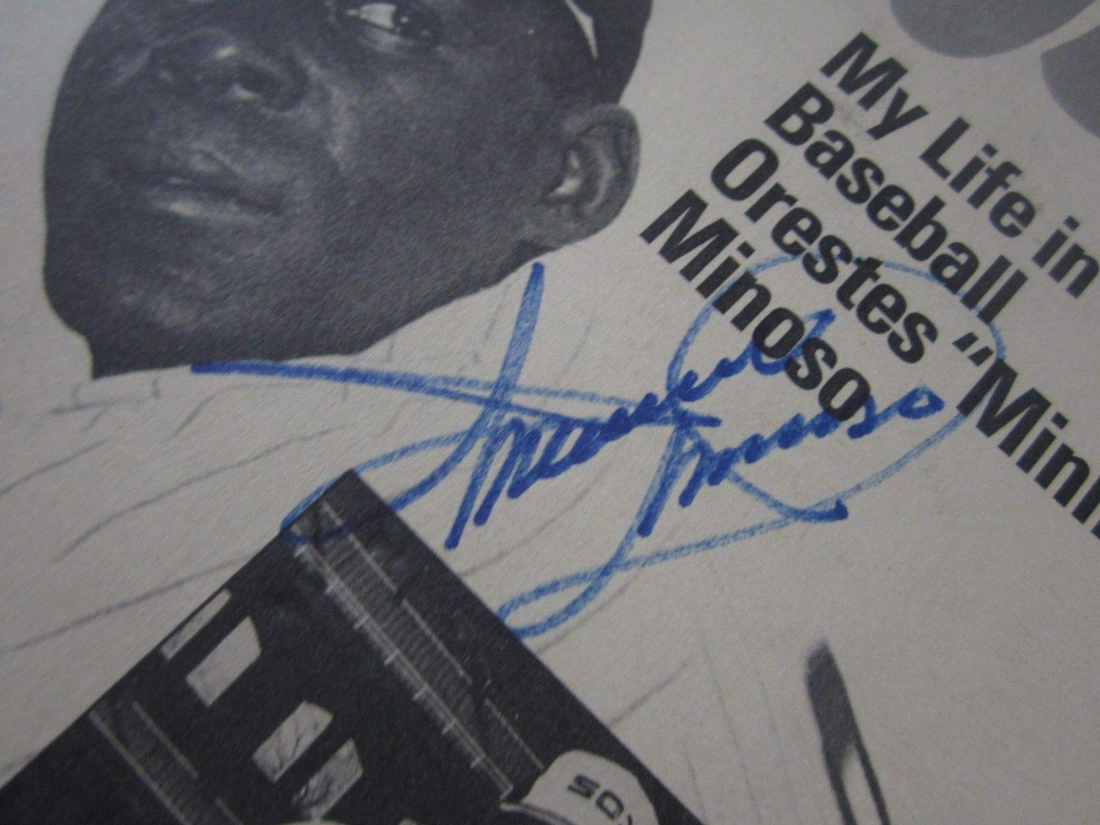 Minnie Minoso White Sox Autographed Signed Extra Innings Commemorative Booklet JSA Coa
