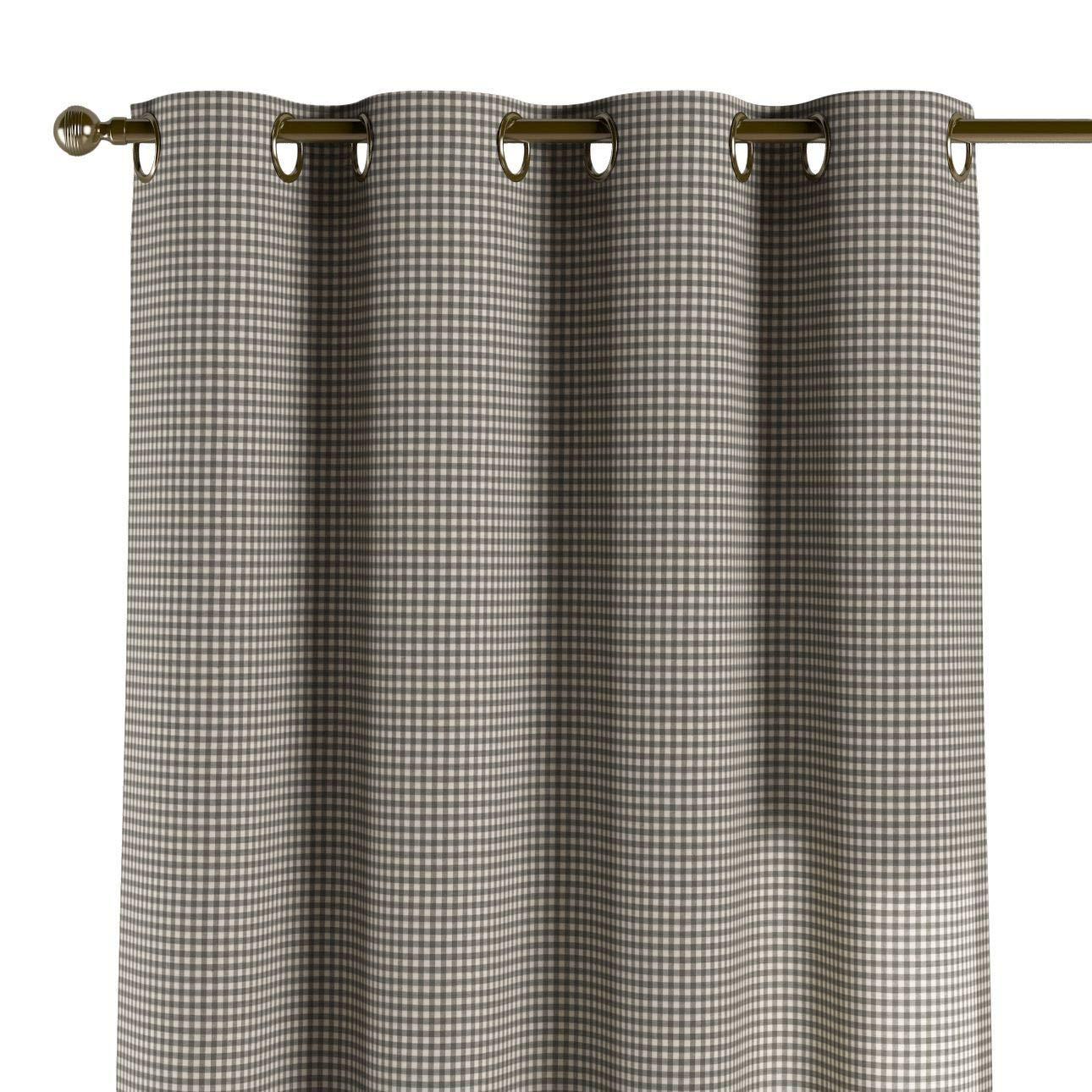 Dekoria Ösenschal Dekoschal Blickdicht 1 Stck. 130 × 260 cm grau-Ecru Maßanfertigung möglich