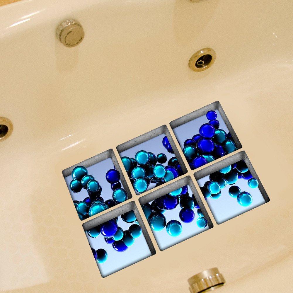 Fulanky Antirutsch Badewanne Aufkleber Wasserdichte Bad Dekorative 3D Aufkleber