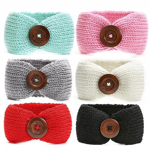 85d9d9682275 Amazon.com  Ranipobo Pack of 6 Baby Girl Knit Crochet Turban ...