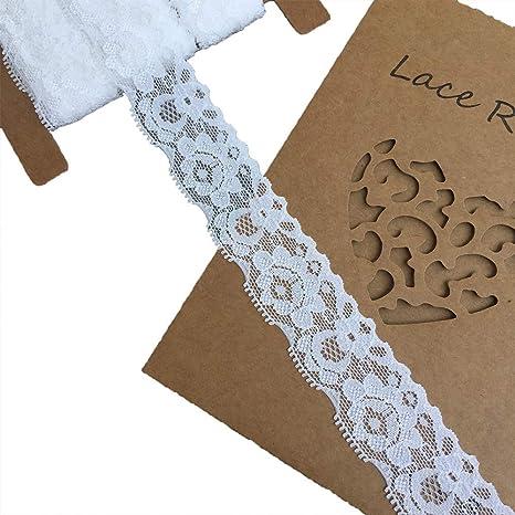 10 Yard 3cm Elastic Lace Edge Trim Ribbon Party Dress Sewing Craft DIY
