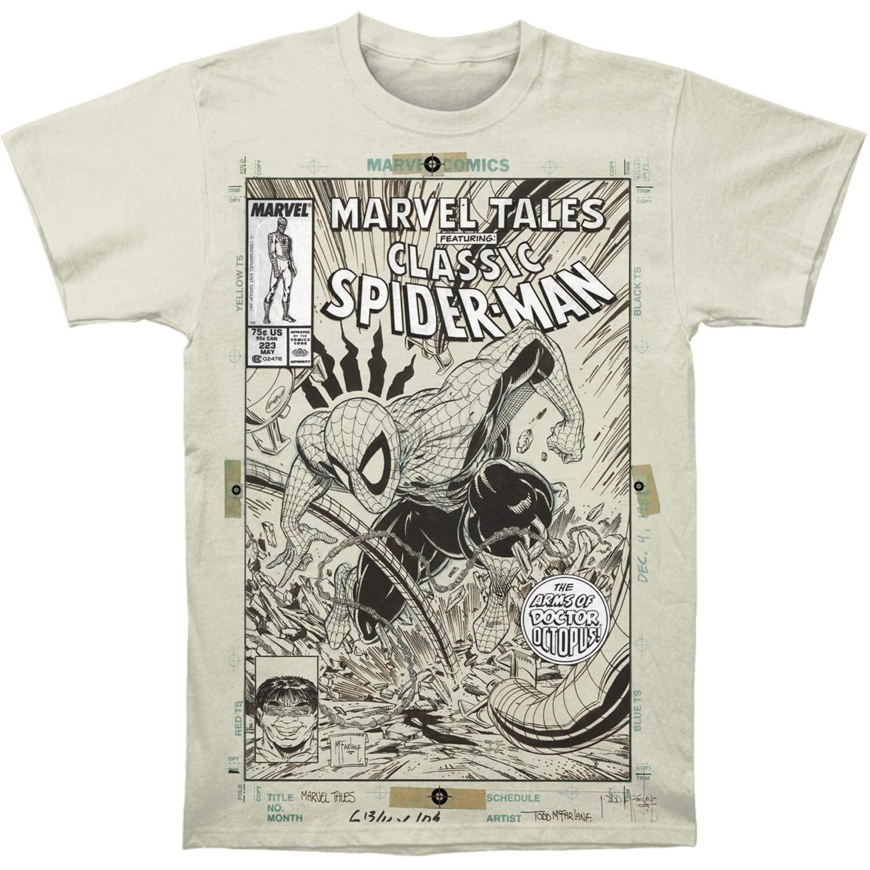 Impact Marvel Spider-Man Mens Cover Sketch Subway Slim-Fit T-Shirt
