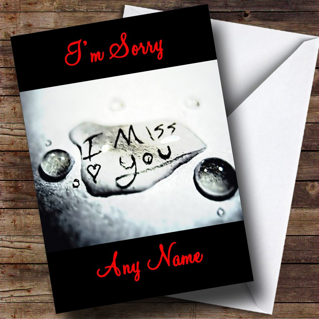 Amazon I Miss You Personalized Im Sorry Greetings Card