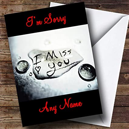 Amazon i miss you personalized im sorry greetings card i miss you personalized im sorry greetings card m4hsunfo
