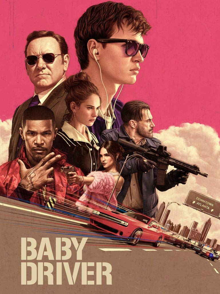 8-HO8B12 Baby Driver 35cm x 47cm,14inch x 19inch Silk Print Poster