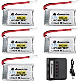 Clearance Sale-Powerextra 5Pcs 680mAh LiPo Battery with 5 In 1 Battery Charger for Beginners X708W Wi-Fi Fpv Training Quadcopter Syma X5 X5C X5SW X5SC-1 CX-3W CX-31 UDI45 Drone Quadcopter