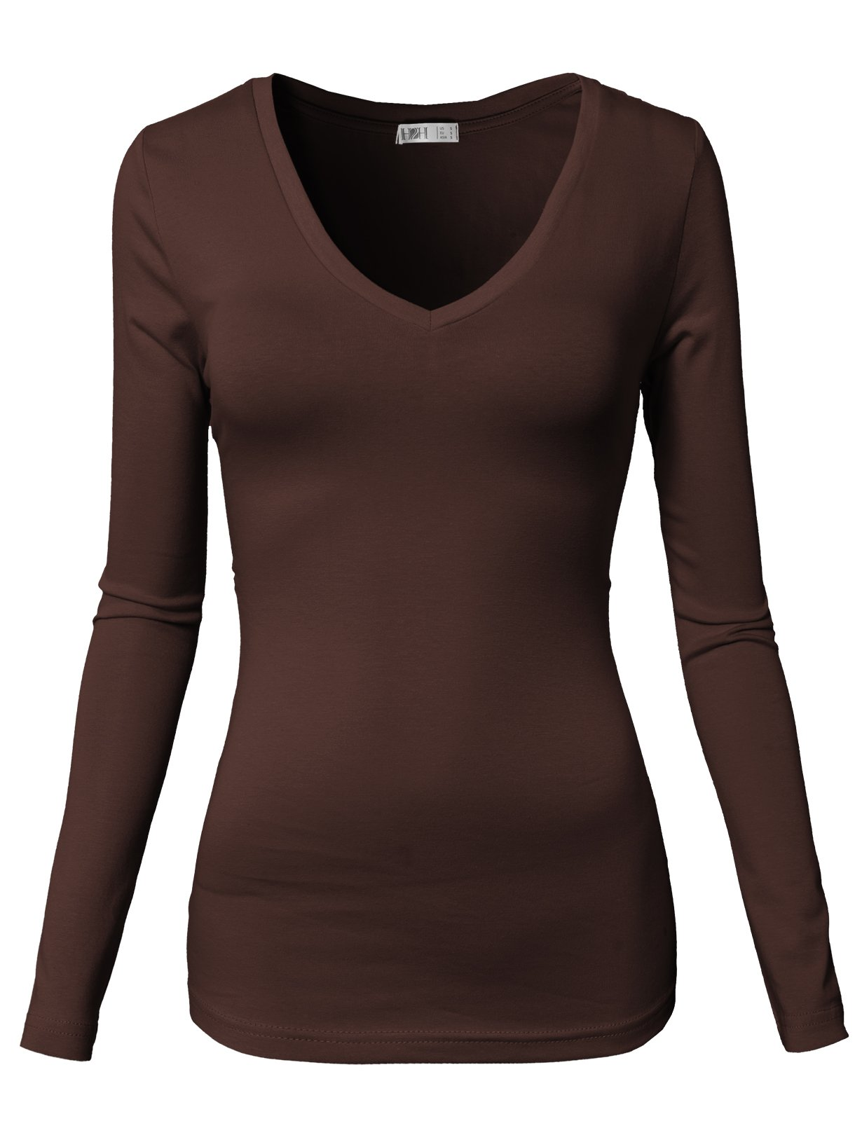 H2H Women's Plus Size Top, The Perfect Tunic Brown US M/Asia M (CWTTL0172)