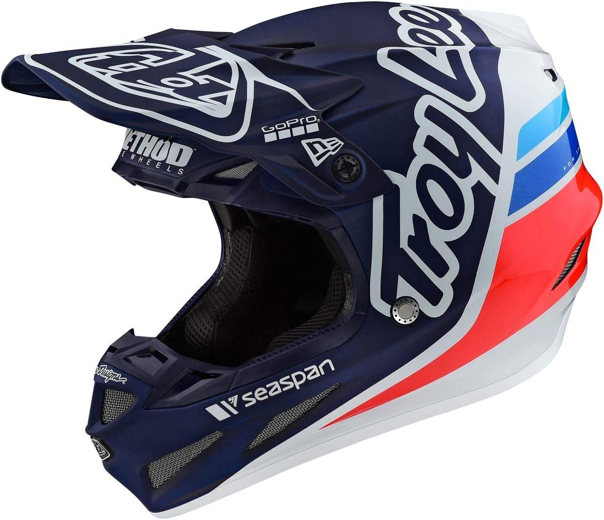 Troy Lee Designs 2020 SE4 Composite Helmet with MIPS - Silhouette Team Ed (X-Large) (Navy/White)