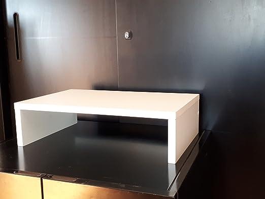 Elevador televisor Soporte Porta DVD decodificador VCR Blanco Porta TV: Amazon.es: Hogar