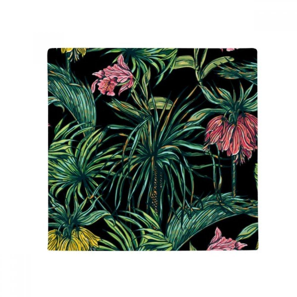 DIYthinker Flower Plant Leaf Dark Sky Anti-Slip Floor Pet Mat Square Home Kitchen Door 80Cm Gift