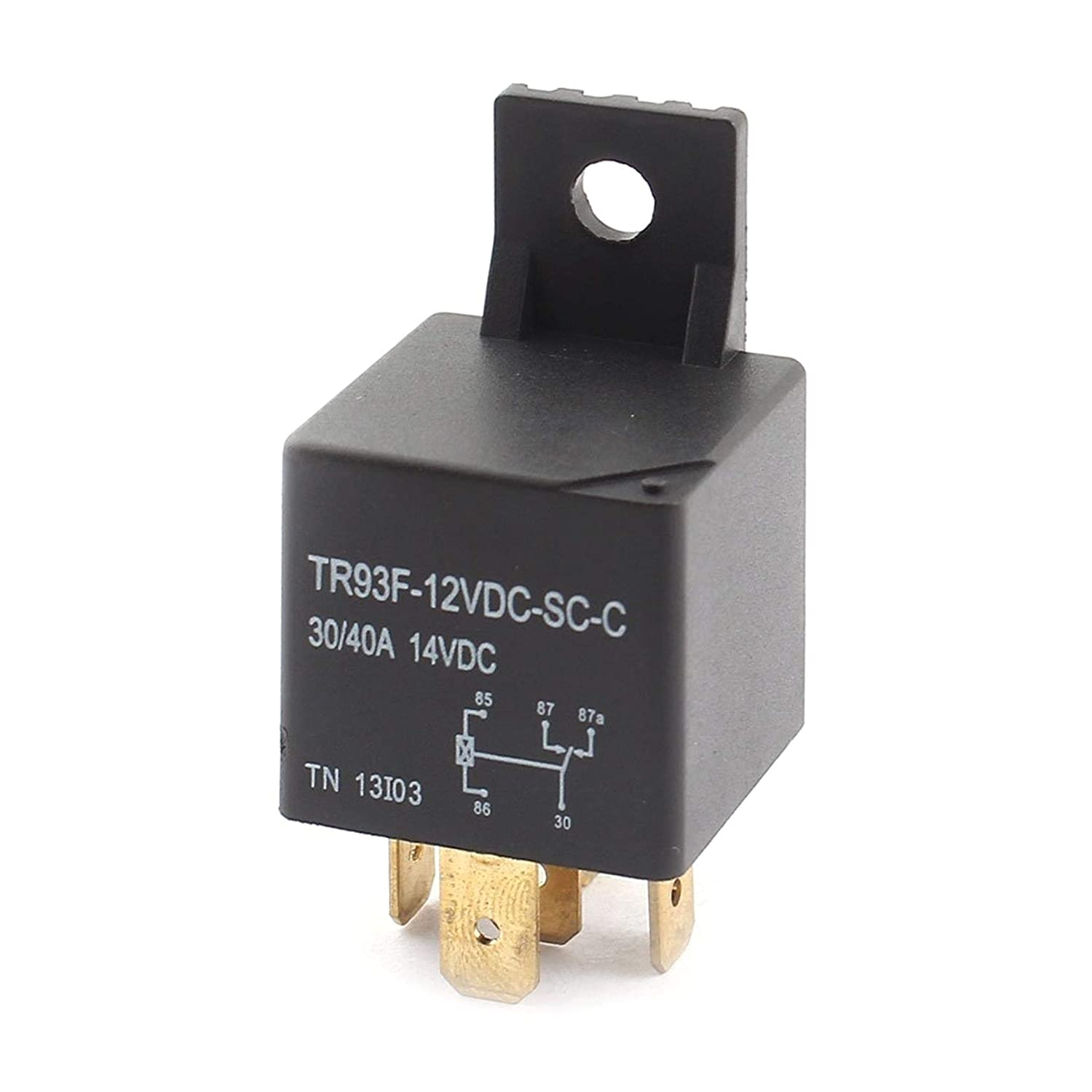 TINGB Automotive Relay DC 12V 5 Pins SPDT for Car Motorbike Boat