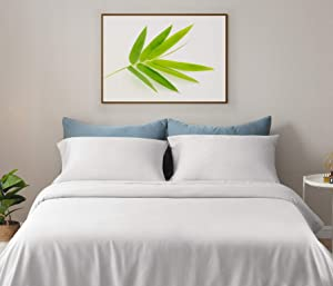 """Gokotta Bamboo Sheet King Size - 100% Bamboo Rayon Bed Sheets, 17"""" Deep Pocket Cooling Sheets, Breathable & Hypoallergenic Luxury Bamboo Sheets 4 Pieces (White, King Size)"""