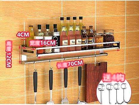 90Cm 70Cm ACZZ Etag/ère Lyg Spice Rack 304 Inox Mural Porte-Couteaux Mural Support De Rangement Cuisine /Épice 100Cm,70cm 50Cm 60Cm 80Cm 40Cm