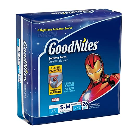 Amazon.com: Goodnites Bedtime - Pantalones para niño, XS ...
