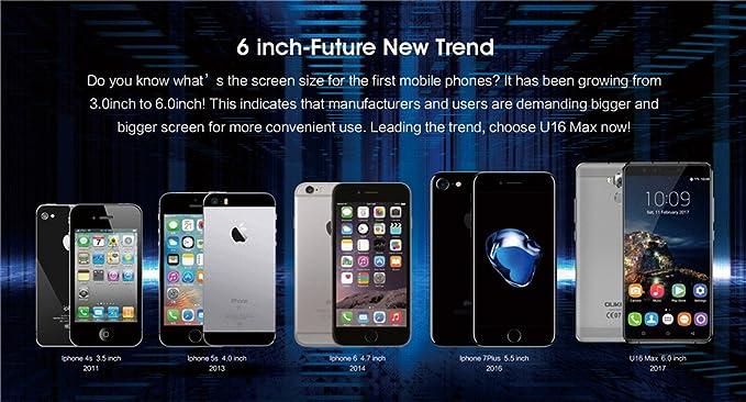 blievee oukitel U16 Max 4 G Smartphone 3 GB RAM 32 GB ROM 6 ...
