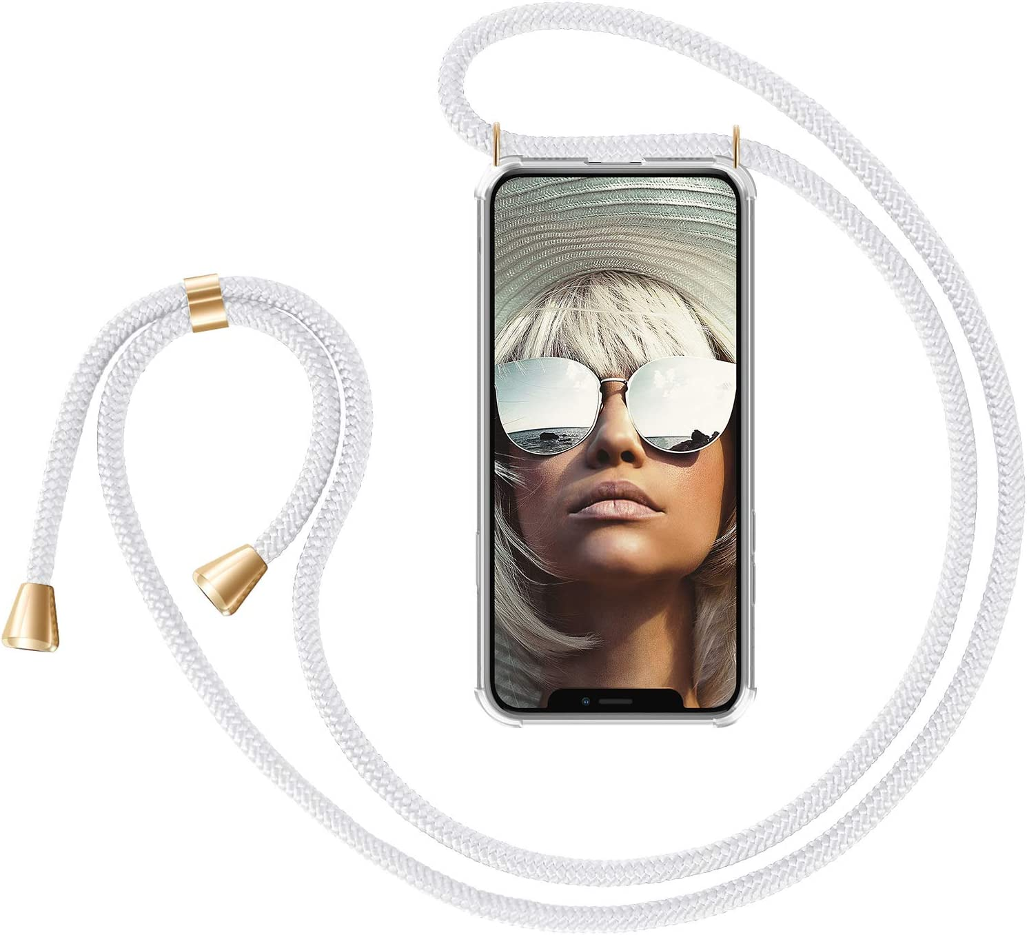 Carcasa con Correa para Celular para Llevar Negro Camuflaje ZhinkArts Cadena para Tel/éfono M/óvil Compatible con Apple iPhone X//XS Funda con Collar de Cord/ón para Smartphone