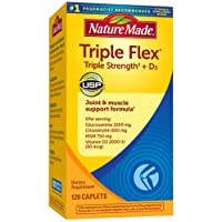 Nature Made TripleFlex Triple Strength Caplets with Vitamin D3, 120 Count for Joint Support† (Packaging May Vary)
